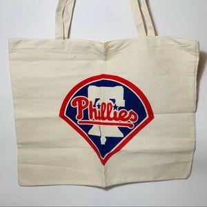 Phillies Canvas Tote Bag XL Philadelphia Baseball